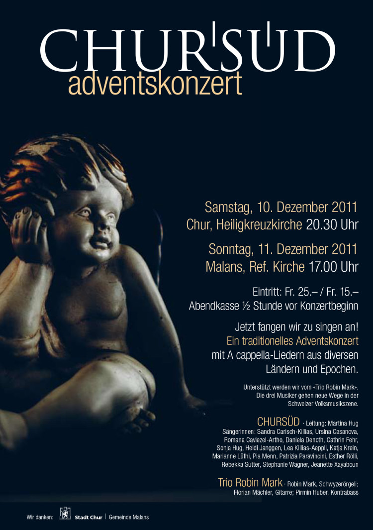 Damenchor Chursüd | Plakat «Adventskonzert 2011»