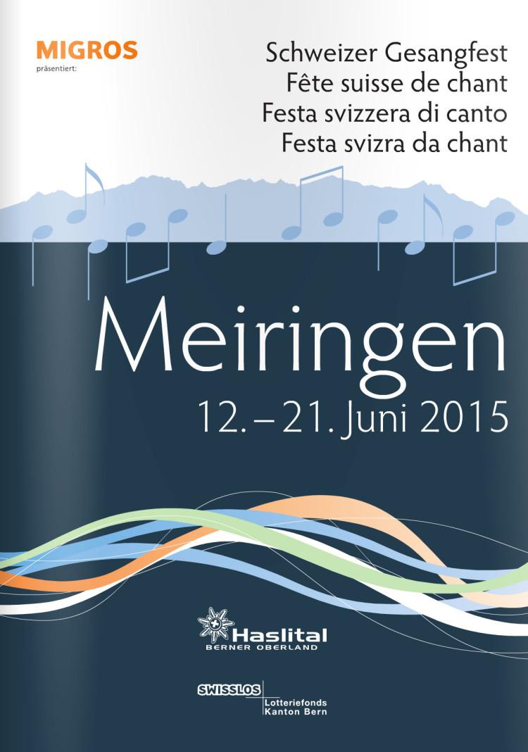Titelbild Programmheft: Schweizer Gesangsfest 2015 in Meiringen