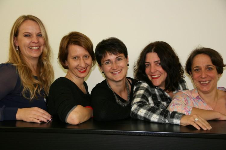 Sandra Carisch, Martina Hug, Sonja Hug, Seraina Dannacher, Jeannette Xayaboun